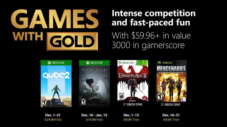 Xbox   Games with Gold de dezembro terá Q.U.B.E. 2 e Dragon Age II