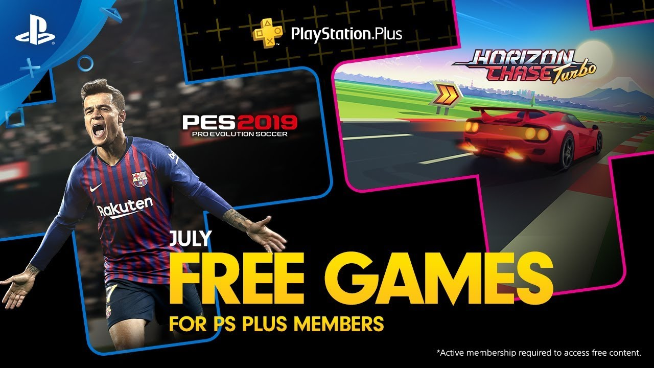 Playstation Plus | PES 2019 e Horizon Chase Turbo são os games da PS Plus de julho