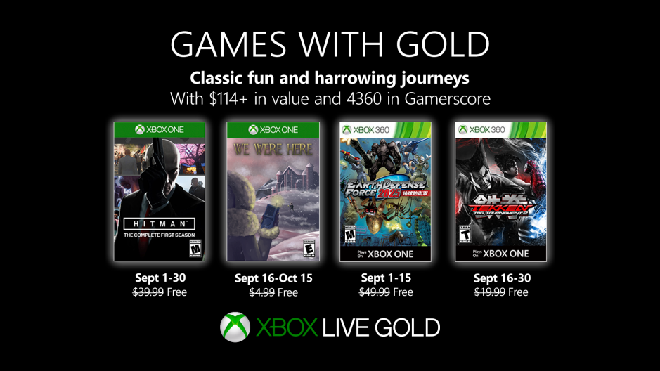 Xbox | Games with Gold de setembro terá Hitman e Tekken Tag Tournament 2